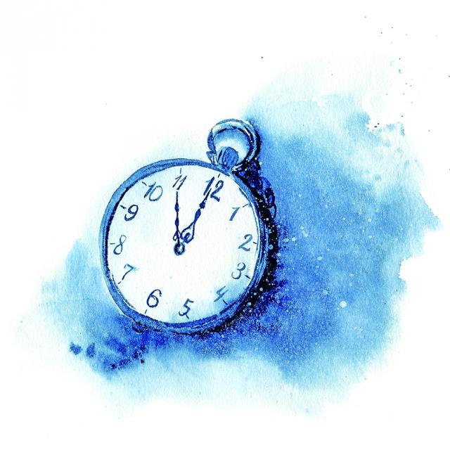 午夜十二點總是特別,享受夜的靜謐,新的一天到來,舊的事情就拋在過去吧!(123RF)