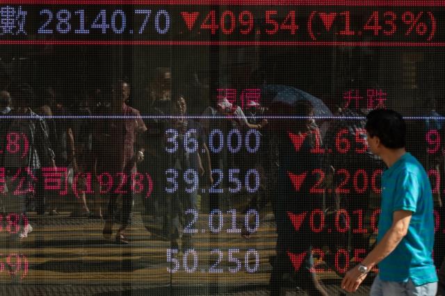 恆生指數4日出現神奇巧合,圖為示意圖。(Getty Images)