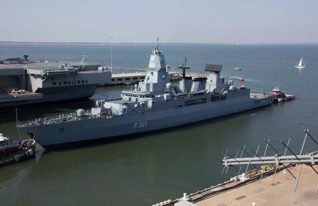 德國政府正研議派遣軍艦通過台灣海峽。圖為德國海軍黑森號護衛艦。(維基百科公有領域)