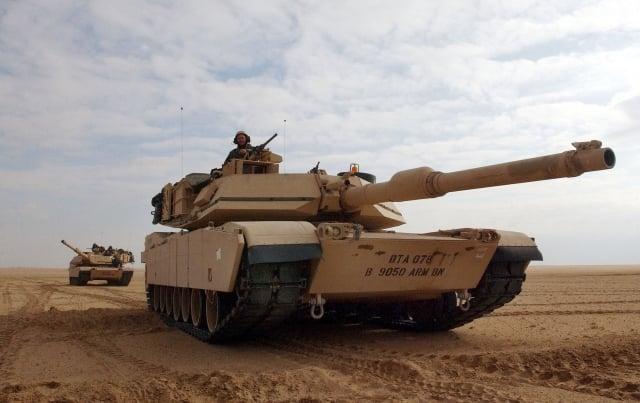 有外媒報導,美國準備軍售108輛號稱「地表最強戰車」的M1A2艾布蘭戰車給台灣。(Getty Images)