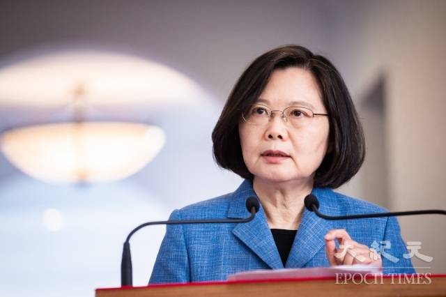 中華民國總統蔡英文表示,國際重要媒體都在關注香港反送中大遊行,相信全世界關注自由、民主、人權者,也都會非常關注,並支持香港人主張,台灣也不例外。(記者陳柏州/攝影)