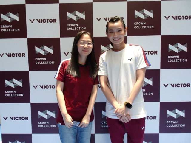 戴資穎出席TTY見面會與球迷合照。(badminton photo提供)