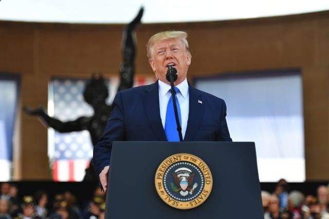美國總統川普週二(6月11日)表示,關稅是很好的談判工具,不僅創造收入,還促使公司投資美國。(Mandel Ngan/AFP/Getty Images)