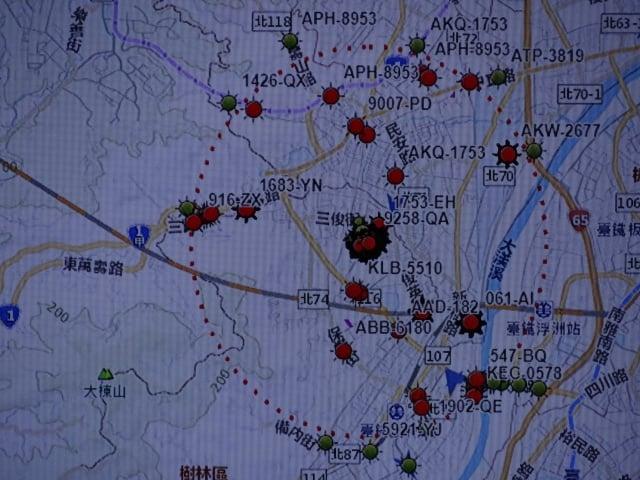 若疫情爆發後,半徑3公里管制範圍的警示系統。(記者袁世鋼/攝影)