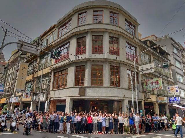 「或者工藝櫥窗」7日熱鬧開幕,圖為整棟4層樓建築外觀。(關耀輝/攝影)