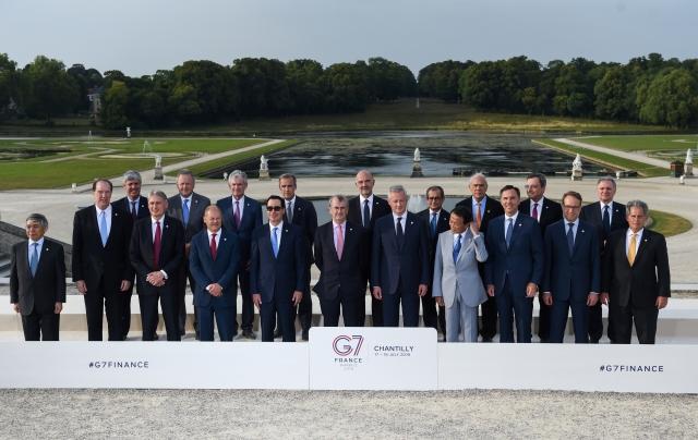 G7成員國的財經官員17日齊聲反對臉書的加密貨幣計畫。(ERIC PIERMONT / AFP)