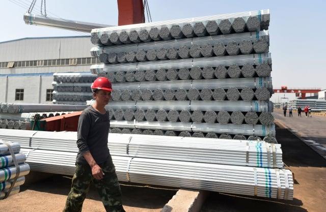 美國商務部裁定中國輸美鋼架有傾銷事實。(AFP/Getty Images)