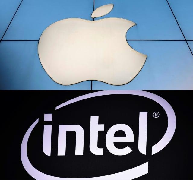 蘋果已同意以10億美元收購英特爾(Intel)智慧手機數據機(modem)部門部門。(NICOLAS ASFOURI and MANDEL NGAN / AFP)