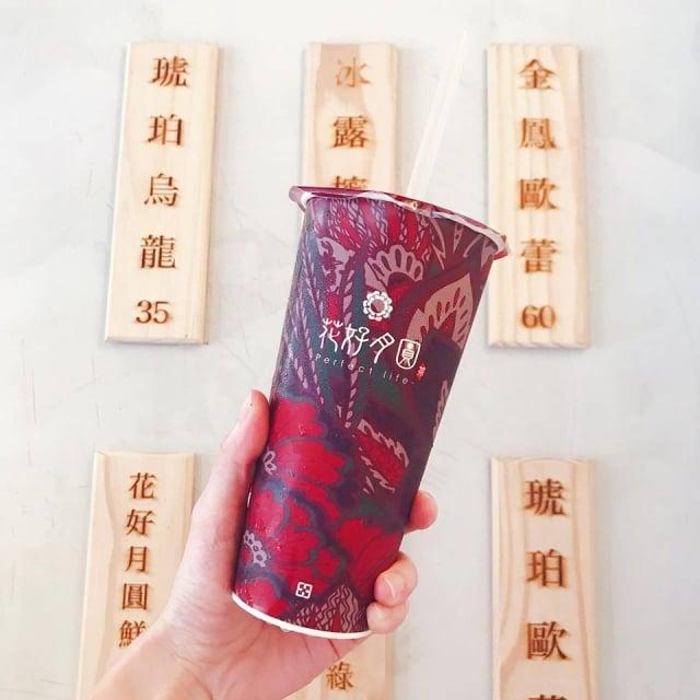 以台灣茶起家的花好月圓飲品。(業者提供)