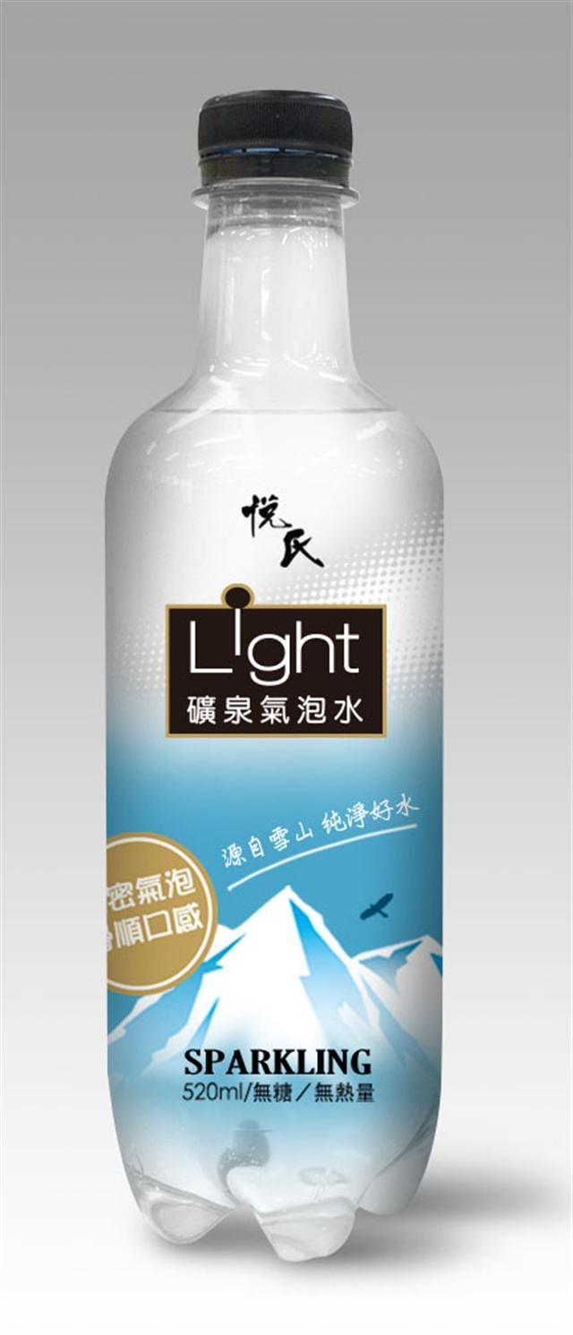 悅氏Light礦泉氣泡水。(名牌食品提供)