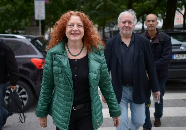 中共要求將德國綠黨籍議員包瑟(圖,左1)排除在訪問中國的代表團之外。資料照。(DPA/AFP)