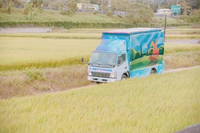 紙風車台灣鄉村卡車藝術工程。(桃園文化局提供)