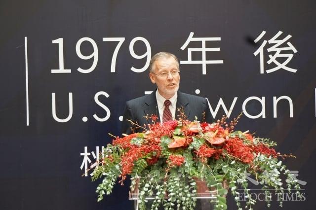 酈英傑簡述台灣關係法簡史,表示美國維持定期對台軍售政策,確保台灣能尋求適當能力抵抗脅迫。