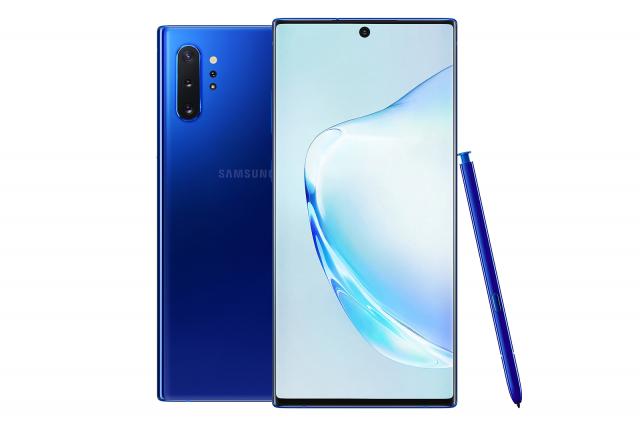 Galaxy Note10+星環藍。(三星提供)
