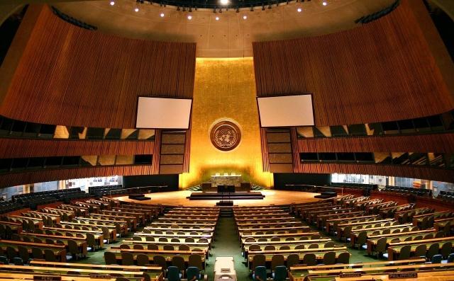 聯合國大會下月登場,據涉外人士表示,今年我方訴求除呼籲重視台灣人的國際參與權利,也表達爭取台灣人與媒體進入聯大議場的權力。(維基百科)