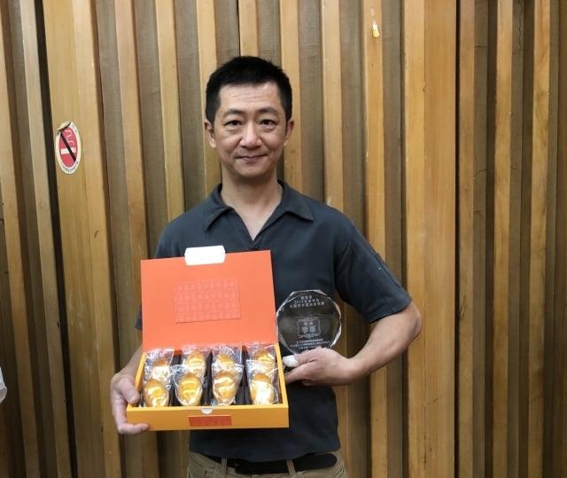 法布甜股份有限公司製作的橘子蛋糕、雙入蛋糕,拿下季軍。(施芝吟/攝影)