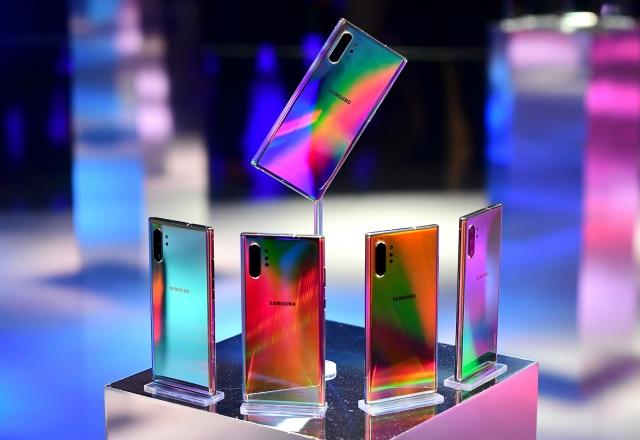 三星電子於9月5日開始銷售具區塊鏈功能的旗艦手機「Klaytn」。(Getty Images)