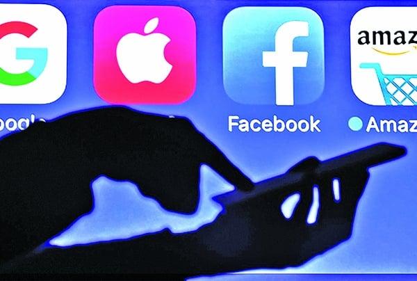由臉書、蘋果公司、亞馬遜、網飛和谷歌母公司Alphabet組成的FAANG成了近年最熱門的科技概念股。示意圖。(Getty Images)