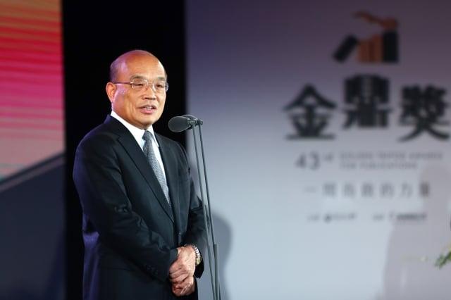 行政院長蘇貞昌表示,將由中央專案全額補足地方減收缺口。(中央社)