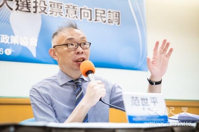 台灣師範大學政治學研究所教授范世平表示,中共砸錢挖台灣邦交國,只會讓台灣民眾、總統蔡英文更強硬,一面倒向美國、日本。(記者陳柏州/攝影)