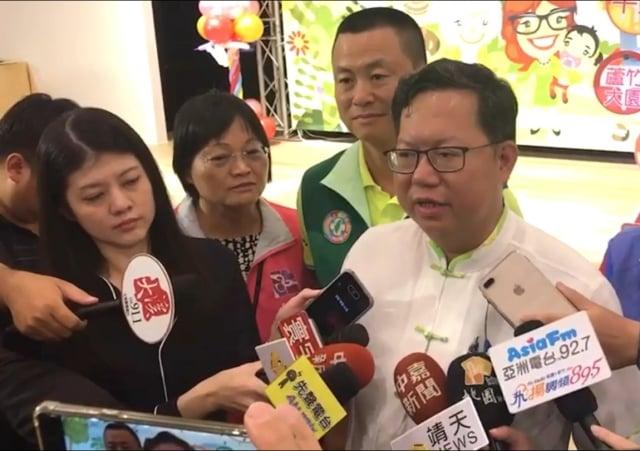 桃園市長鄭文燦認為郭董是經過深思熟慮才決定退選。(桃園市府 提供)