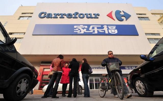 陸企蘇寧易購9月27日宣布,已完成收購歐洲最大零售商家樂福中國的股權交割手續。(FREDERIC J. BROWN/AFP/Getty Images)