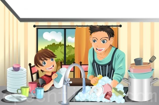 善用廚房為全家營造歡樂的氛圍。(Fotolia)