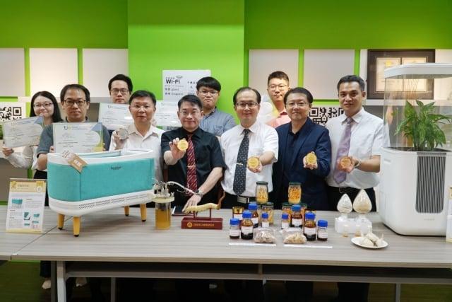 大葉大學參加「2019台灣創新技術博覽會」,勇奪3金1銀1銅 。(大葉大學提供)