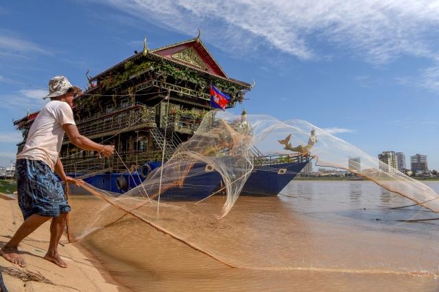 外媒報導指出,中共在湄公河建造大壩,將對當地造成影響。圖為湄公河一景。(Getty Images)