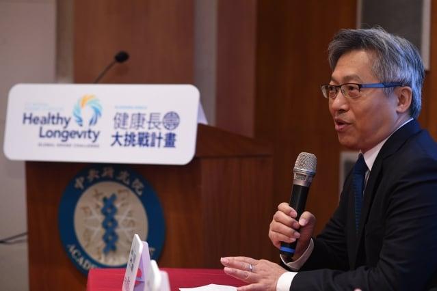 中研院長廖俊智表示,向全球徵求跨學科領域研究計畫,期待激起大家發想,產生全新的做法。(中研院提供)
