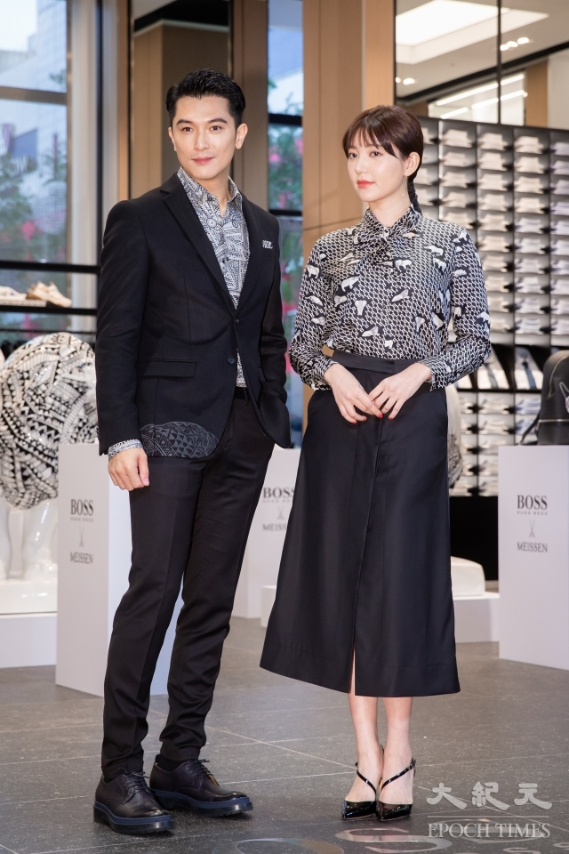 邱澤(左)、郭雪芙(右)8日出席時尚品牌活動。(記者陳柏州/攝影)