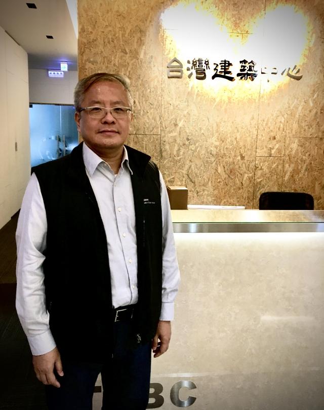 台灣建築中心李明賢博士。(攝影/廖蔚尹)