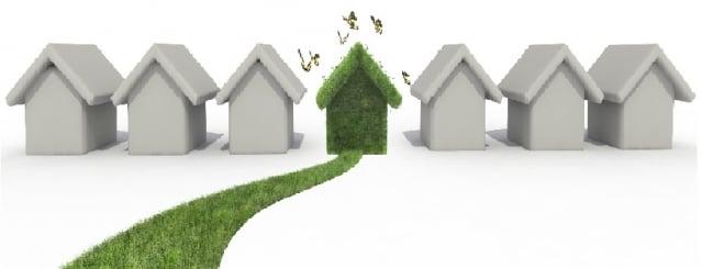 「綠建材」是指在原料採取、產品製造、使用過程和再生利用循環中,對地球環境負荷最小、對人體健康無害的建材。(123RF)