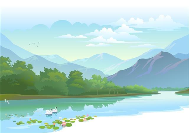 遠方橫陳的山脈,在平常的氣候裡是隱而未現的,只有在這樣的秋雨洗淨塵埃後,才能朗朗呈現它的迷人樣貌。(Fotolia)