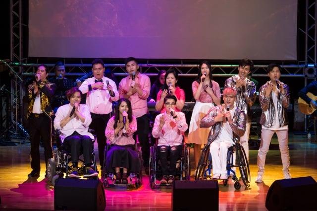 2018年,福華文教會館夢想者聯盟演出。(身心障礙者藝文推廣協會提供)