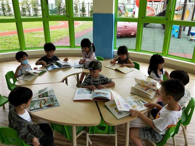 聖奇幼兒園_閱讀區 。(林寶雲提供)