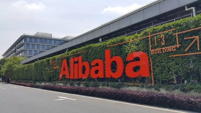 阿里巴巴26日在香港上市。(中央社)