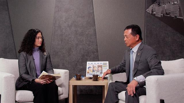 邱文彬總裁與大紀元副社長蔡燕玟暢談美中局勢,句句經典。(攝影/林京昀)