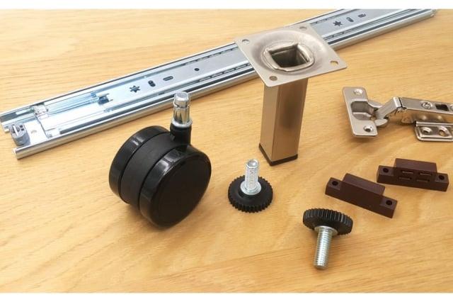 家具客製化金屬配件。(三千貿易提供)