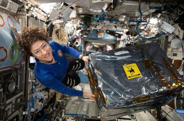 NASA女太空人科赫,在(2019)年12月28日創下女太空人在太空中停留最長時間的紀錄。(NASA)