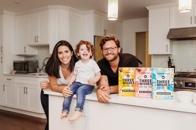 受孩子所啟發,威辛格夫妻為了給年幼的兒子更健康的食物,開創了低糖高蛋白穀片品牌「三個願望」(Three Wishes)。(Three Wishes提供)