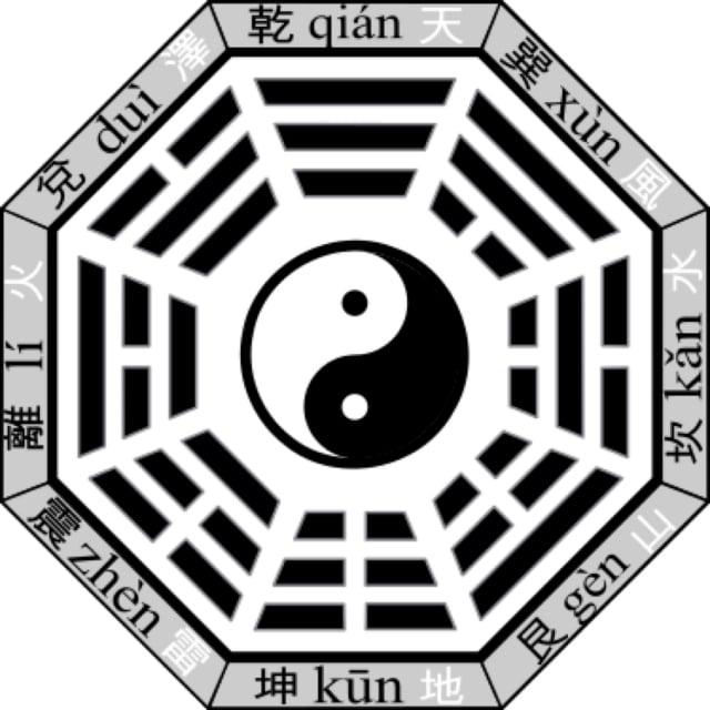 先天河圖與先天八卦包含了先天大道的太極之理。太極圖遍及中華文明,在其它(維基百科)