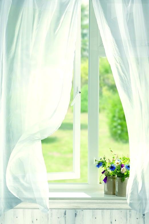 就像做完家事,這裡全部,都煥然一新,我會打開門窗,快樂整天。(123RF)