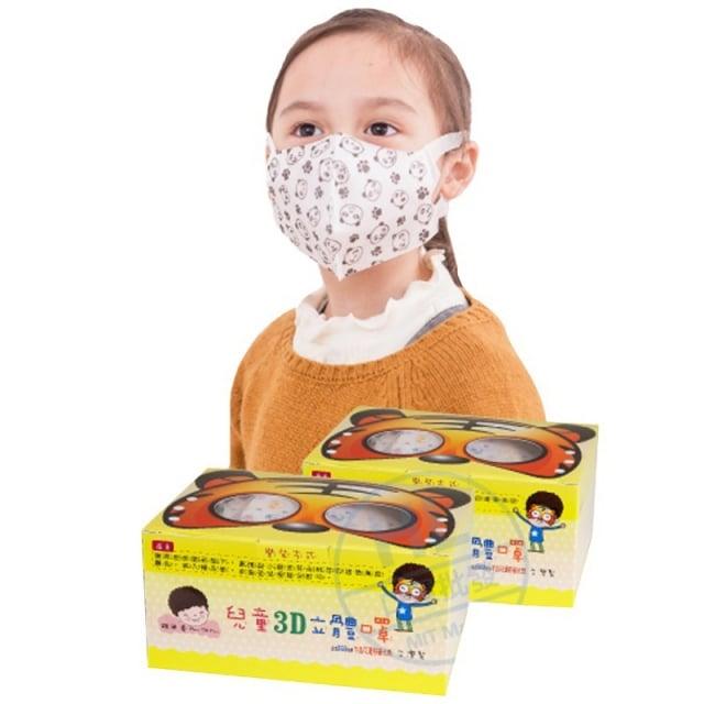 全方位兒童3D立體口罩。(生活市集提供)