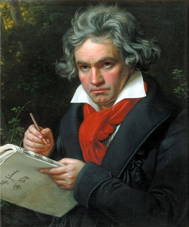 貝多芬的肖像畫,由約瑟夫·卡爾·施蒂勒於1820年所繪。(維基百科)