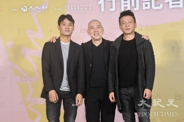 左起為亞儂・弘尚希、蔡明亮、李康生。(記者黃宗茂/攝影)