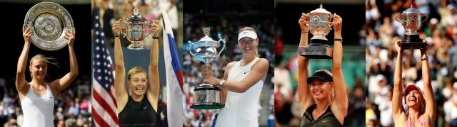 莎拉波娃曾拿下5座大滿貫賽事冠軍。(Getty Images)