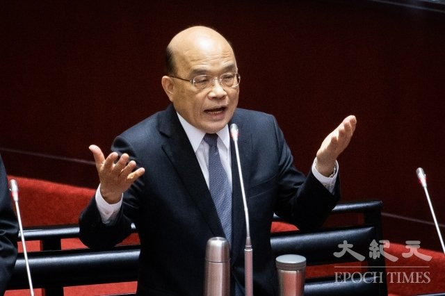 行政院長蘇貞昌表示,行政院依法行政,沒有政治考量,只為環境更好考量,這事不分藍綠、不分黨籍。(記者陳柏州/攝影)