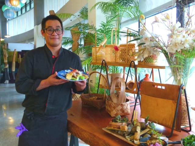 阿美族主廚阿嶽認為,將飲食和文化融合是最棒的感覺。(攝影/龍芳)