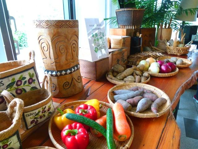採用來自部落小農的健康食材。(攝影/龍芳)